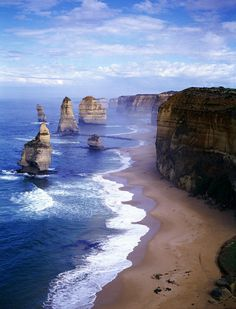 Twelve Apostles in Victoria, Australia. l want to go see this place one day.Please check out my website thanks. www.photopix.co.nz