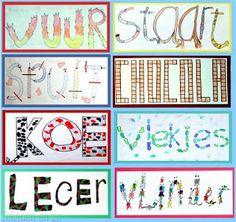teken en verbeeld het woord