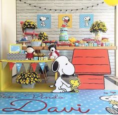 Decoraçao Snoopy