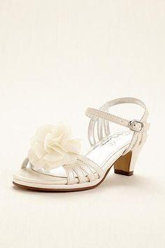 2a1b9cbae9856 Touch of Nina Flower Girl Sandal with Flowers KALEENA Flower Girl Dresses