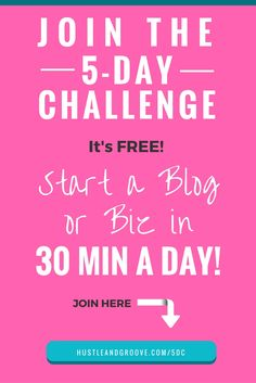 Feeling overwhelmed? Sick of reading about #allthethings you need to do to start a blog or biz? Then this challenge is for you! Click through to join and get your blog or biz up and running in 30 mins a day. Step-by-step instructions, just follow along!
