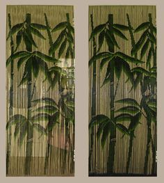 Bamboo beaded curtains