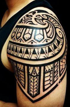 geometrische motive tattoo maori tribal tätowierung