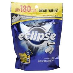 Eclipse Sugar Free Gum Winterfrost - 180 ea