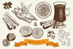 Výsledok vyhľadávania obrázkov pre dopyt hand drawn mulled wine
