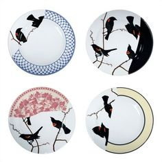 Areaware Seconds Set of Four Dinner Plates