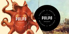 Restaurant branding design: Polpo combines historical textbook images (before the invention of photography) with a modern twist. Designed by Richard Marazzi. Restaurant Identity, Restaurant Week, Restaurant Interiors, Restaurant Design, Typography Design, Branding Design, Logo Design, Branding Ideas, Stationery Design