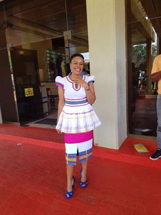 Made by Divine touch by LEMC. 072 409 4864 sepedi traditional attire wedding A Pedi Traditional Attire, Sepedi Traditional Dresses, African Traditional Wedding Dress, African Fashion Traditional, African Print Dresses, African Print Fashion, Africa Fashion, African Fashion Dresses, African Dress