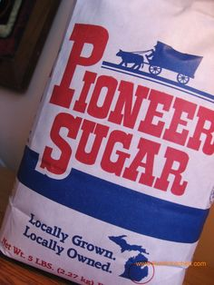 """Pure Michigan"" sugar is Pioneer Sugar. Made in Michigan. In business since Flint Michigan, State Of Michigan, Detroit Michigan, Northern Michigan, Michigan Made Products, The Mitten State, Michigan Travel, Bay City"