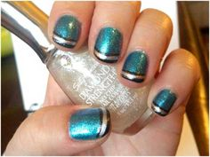 My nails I did today! Click on the photo to link to all my details on polishes and such <3