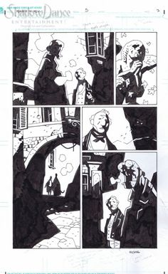 Hellboy in Hell #5 page 2 by Mike Mignola (2013) Comic Art