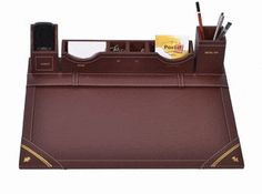 Unique All In One Desk Organizer WAUDRS03: Beautify your office with this Dark Brown #Leatherettedeskorganizer, the rich color of the desk set allows the natural beauty of leatherette to show through. It adds a classic style to any office design. Let me know if anyone want to customize it. http://woodartsuniverse.com/catalog/product_info.php?cPath=42&products_id=341 #SALE #Freeshipping #persona... See More