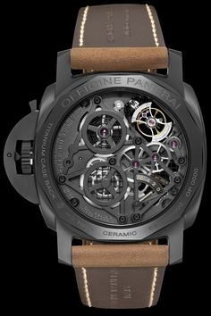 Panerai Lo Scienziato Luminor 1950 Tourbillon GMT (back) | Raddest Men''s Fashion Looks On The Internet: http://www.raddestlooks.net
