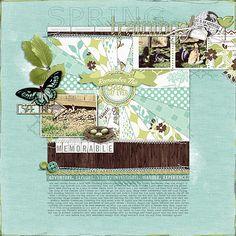 great #scrapbook page with a #burst by Hillarey at DesignerDigitals.com #shopDesignerDigitals