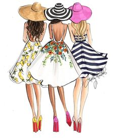 #Summertime #FunTime @hnicholsillustration #FashionIllustrations| Be Inspirational ❥|Mz. Manerz: Being well dressed is a beautiful form of confidence, happiness & politeness