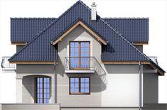 Elewacja ARD Kasztan 3 paliwo stałe CE Roof Design, Design Case, Home Fashion, My House, Floor Plans, Cabin, Flooring, Mansions, House Styles