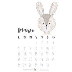 Descargable calendario 2018 - Sabrin Deirani