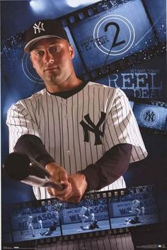 An awesome poster of New York Yankees all-star shortstop Derek Jeter! When it comes to MLB Baseball, he's the Reel Deal! Published 2005. Fully licensed. Ships fast. 22x34 inches. Need Poster Mounts..?