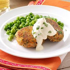 Tuna Cakes with Mustard Mayo Recipe -These patties take the cake! Canned tuna is the surprise ingredient in these veggie-packed rounds. If you'd like, add more zip to the creamy mustard-mayo sauce with prepared horseradish. —Taste of Home Test Kitchen