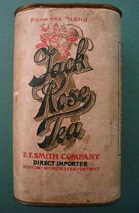 RARE Jack Rose Tea E T Smith Boston Worchester Mass Detroit Tin Can Spice Coffee | eBay