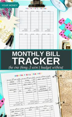 Finally something tell me not only where my money needs to go but when I need to spend it! I love this monthly bill tracker because it allows me to see what I need to pay for each paycheck. My husband and I have multiple paychecks because we both get paid twice a month. We can't afford to pay everything all at once every month, so this allows us to split up the bills and allocate it according to each paycheck. It's a wonderful printable, and I won't budget without it! via @thebudgetmom
