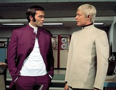 Michael Billington and Ed Bishop in UFO. Sadly, both died within days of each other in 2005.