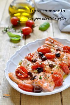 Shellfish Recipes, Seafood Recipes, Kitchen Queen, Food Therapy, Latest Recipe, Just Cooking, Caprese Salad, I Foods, Olive