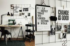 DIY: Мудборд из сетки для вашего рабочего места | IVOREE