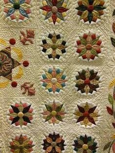 Under the Southern Stars, by Sue Daley. Sewing Machine Quilting, Machine Quilting Designs, Longarm Quilting, Free Motion Quilting, Hand Quilting, Quilting Projects, Quilting Ideas, Patch Quilt, Applique Quilts