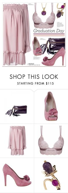 """""""Graduation Day Style and PaoloShoes"""" by spenderellastyle ❤ liked on Polyvore featuring Soma, Alexander McQueen, Loveday London, Rosantica and Graduation"""