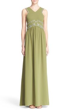 Tory Burch 'Luisa' Embellished Sleeveless Gown available at #Nordstrom