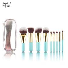 Free Shipment Synthetic Hair Lovely Mini Makeup Brushes set 9 Pieces Make up Brush kit