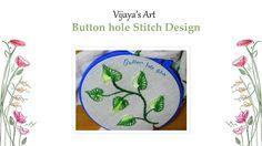 Beautiful Hand Embroidery Work Designs - Button hole Stitch Design