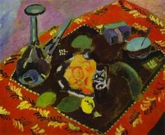 Dishes and Fruit - Matisse Henri