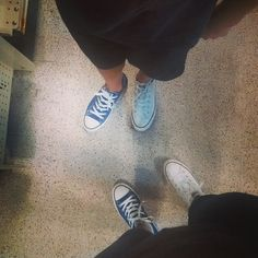 Me and my bruh switched left shoes #shoeswitch