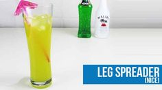 Leg Spreader (Nice) Cocktail Recipe - How to make a Leg Spreader (Nice) Cocktail Cocktail Recipes, Drink Recipes, Cocktails, Midori Melon, Happy Drink, Cocktail Making, Yummy Drinks, Bartender, Cocktail
