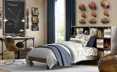 Decoracion Hogar - Comunidad - Google+ Boys Room Design, Boys Room Decor, Bedroom Themes, Kids Bedroom, Bedroom Ideas, Bedroom Designs, Bedroom Decor, Male Bedroom, Bedroom Furniture