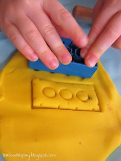 using legos with playdough = textures from @Deborah - Learn with Play @ home