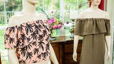 DIY Off-the-Shoulder Dress  - ***** Video & written info. CN