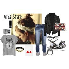 """Book Heroines - Arya Stark"" by sweet-tie on Polyvore"