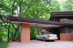Andrew F.H. Armstrong House. 1939. Ogden Dunes, Indiana. Usonian Style. Frank Lloyd Wright