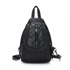 Women Vintage PU Leather Backpack Retro Shoulder Bag Vintage Satchel Bag