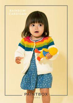 Rainbow Cardigan in Paintbox Yarns Simply Aran - Aran-Kid-002 - Downloadable PDF