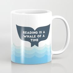 Reading is a Whale of a Time  Mug