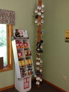 Floor To Ceiling Mug Rack And Equal Exchange Coffee Display (pic By Me At  Bethlehem