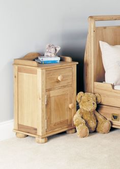 Emily Solid Oak Bedside Cabinet (one door one drawer)  Part of the naturally beautiful and timeless Emily childrens oak collection  https://www.bonsoni.com/emily-solid-oak-bedside-cabinet-one-door-one-drawer