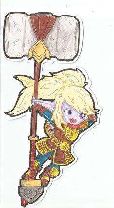 Poppy from LOL(book marker)