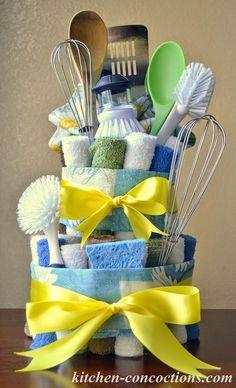 Kitchen Concoctions: Creative Soap Ideas: Dish Towel Cake (Step-by-Step Tutorial) #Palmolive25Ways #cbias