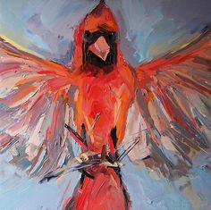 Cardinal II 2013 oil on canvas 32 x 32 in = 80 x 80 cm