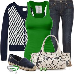 Colored Tank Contest #1 by jewhite76 on Polyvore featuring polyvore fashion style Band of Outsiders rag & bone Tory Burch Kate Spade Bling Jewelry Chanel